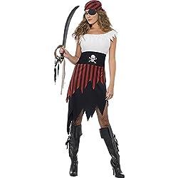 Smiffy's Disfraz de moza pirata para mujer, talla S (30716S)