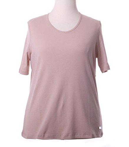 No Secret Damen T-Shirt Kurzarm große Größen V-Ausschnitt Baumwolle 44 46 48 50 52 54 56 Hellbraun