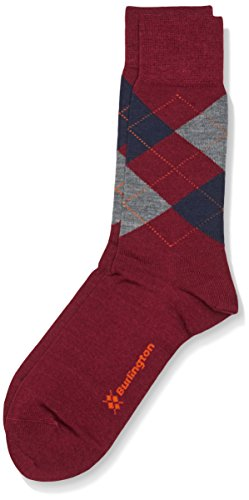 Burlington Herren Socken Edinburgh, Gr. 40/46 (Herstellergröße: 40-46), Violett (rose/orange 8104)
