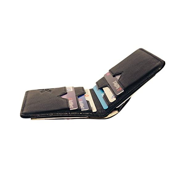 3b514ebd958f Falcon Vault - RFID Blocking Bifold Men's Wallet - Slim Genuine Italian  Leather Wallet for Men – 13.56 MHz RFID Protection - Compact Design - Hold  ...