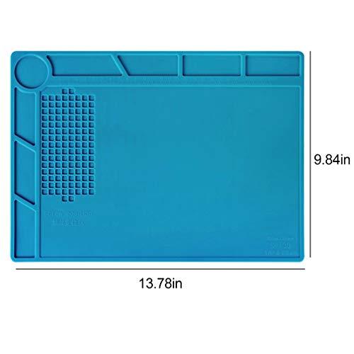 Lin-Tong Lötmatte Wärmeisolierung Magnetische Feuerfeste Silica Gel Anti-Rutsch-Elektronik Reparatur-Pad für Handy-Uhr-Computer