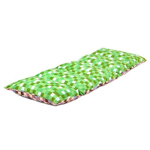 kinder-pixel-grun-braun-print-zusammenklappbar-kissen-sleepover-schlafunterlage-mit-bindebandern