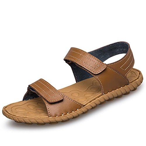 SHANGXIAN Estate Flip Flops sandali uomo Casual Brown