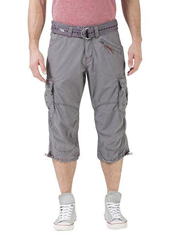 Timezone Herren Loose Miles 3/4 Cargo Incl. Belt Shorts, Grau (Beluga Grey 9162), W34 -