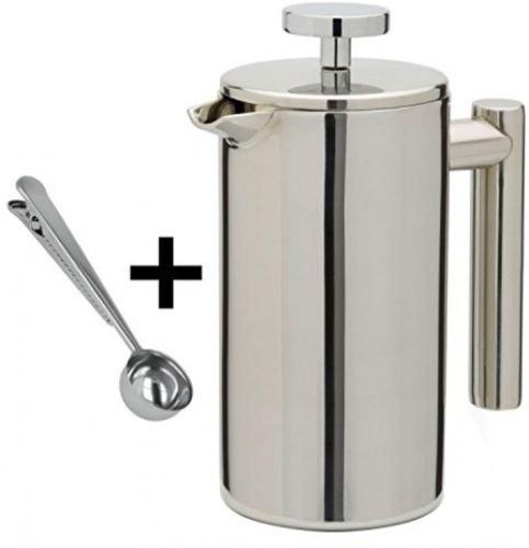 Une cafetière à piston au design minimaliste