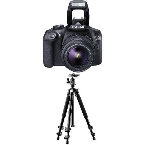 Canon EOS 1300D Digitale Spiegelreflexkamera (18 Megapixel, APS-C CMOS-Sensor, WLAN mit NFC, Full-HD) Kit inkl. EF-S 18-55mm IS Objektiv + Mantona Scout