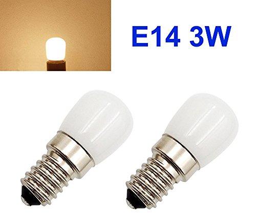 Preisvergleich Produktbild 2 x 230V AC 3W 3000K E14 mini LED Ersatzlampe für Nähmaschine Kühlschrank Lampe Birne Licht
