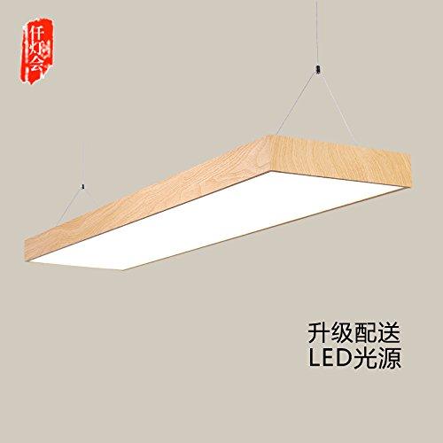 Le Bureau de l'angle droit à LED lustre moderne étude restaurant minimaliste creative rectangulaire à aspect de fil de suspension ,lampes 120*30cm, argent