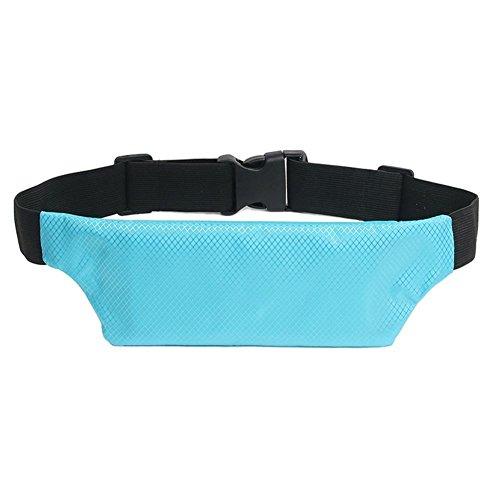 Helle und atmungsaktive im Freiensport-Taillen-Beutel, Sommer-Multifunktionslauf-Taillen-Beutel, Anti-Diebstahl-unsichtbare Handy-Taillen-Beutel, Dame-Spielraum-persönliche unsichtbare wasserdichte Ta blue