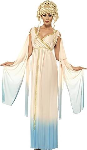 Griechische Prinzessin Kostüm Beige mit Kleid und Kopfbedeckung, Large (Griechische Göttin Kopfschmuck Kostüm)