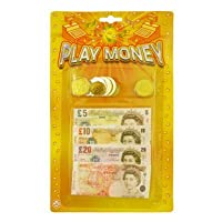 Henbrandt CHILDRENS KIDS PRETEND FAKE TOY PLAY MONEY NOTES & COINS ROLE PLAY AT SHOPS
