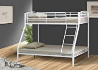 White 3ft and 4ft6 Triple Metal Kids Bunk Bed With Tanya Mattresses