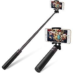 Bluetooth Selfie Stick Alliage D'aluminium-Yarrashop Selfie Sticks Pour iPhone, Samsung Galaxy, Huawei Et La Plupart Des Téléphones(Gun Noir)