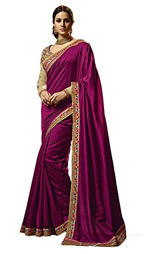 Kjp Villa Women\'s TutonSilk Pink Free Size Embroidery Saree With Blouse Pics sakshi-1143