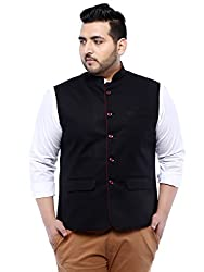 John Pride Black Sleeveless Nehru Jacket