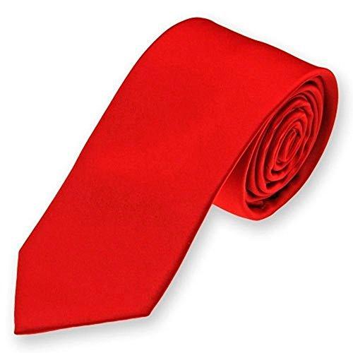 Corbata rojo carmesi
