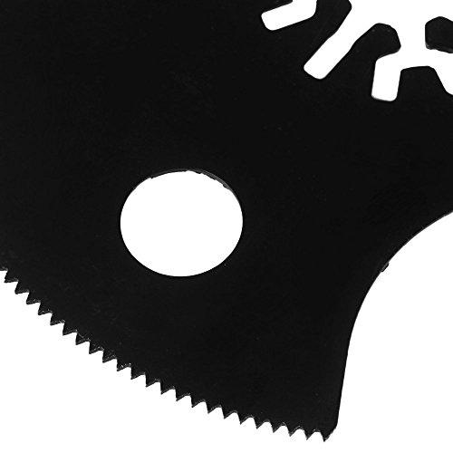 cnbtr 88mm schwarz kohlenstoffreicher Stahl Pendelndes Multitool Universal Halbkreis Sägeblätter Set 50Stück