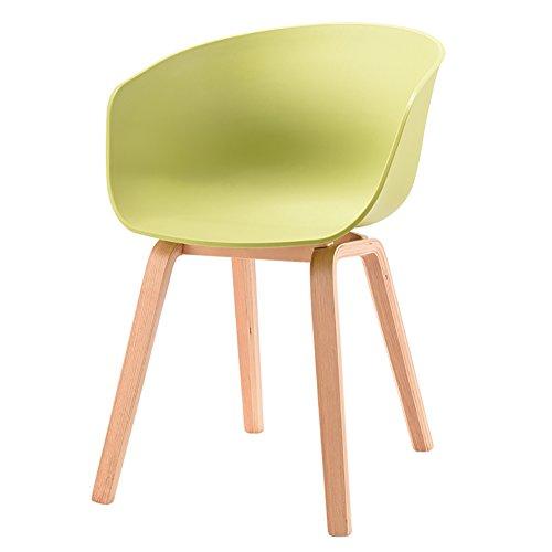 ALUK - High stools/Folding chairs Designer Stuhl Sessel Stativ Hochwertiger Bent Wood Panton Designer PP Stuhl Barhocker/Tischhocker (Farbe : Light Green, Größe : H75cm)