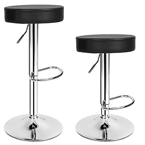 TecTake 401562 Tabourets de bar chaise fauteuil bistrot réglable pivotant siège design - diverses modèles - (2x 'Sebastian )