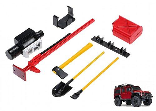 Kit de herramientas para RC Crawler Traxxas TRX-4 RC4WD D90 Axial SCX10 90046 Jeep Wrangler Traxxas TRX4 gato de elevación, tanque, hacha, pala y pala TRAXXAS LAND ROVER DEFENDER TRX-4