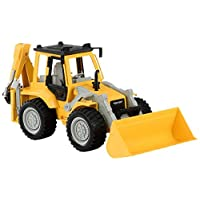 Driven WH1005Z Battat - Midrange Backhoe Loader Shovel, Excavator Arm, and Sound - Trucks and Construction Toys for Kids Aged 3 and Up, Nylon/A