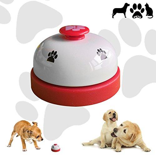 CUKCIC Haustier Glocke Tisch Glocke Pet Bell   zum Katze Hund Töpfchen Ausbildung Fütterung (Töpfchen Hund Bell)