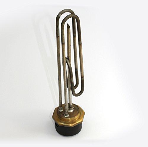 35.56 cm von INCOLOY Tauchsieder mit Thermostat von INCOLOY 27.94 cm, Von BEAB Genehmigt, 3 KW, 2,25 Bsp-Stecker, RoHSEN 60335-2-73 Zugelassen - Tauchsieder-stecker