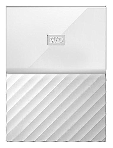 Mobile 1 TB-Festplatte WD My Passport WDBYNN0010BWT-WESN (weiß), mit Kennwortschutz u. Software für autom. Datensicherung