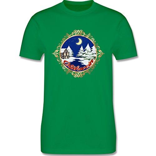 Weihnachten & Silvester - Glühwein Lable - Herren Premium T-Shirt Grün