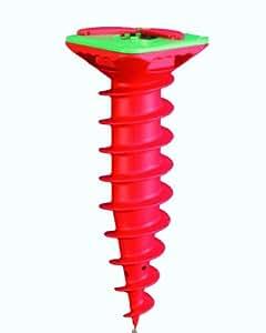 Metaltex 54700510080 Vis Ancrage pour Séchoir Type Araignée Plastique Rouge 15 x 15 x 42 cm