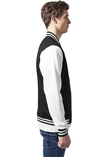 Urban Classics TB207 Herren Jacke Bekleidung 2 Tone College Sweatjacket schwarz / weiß