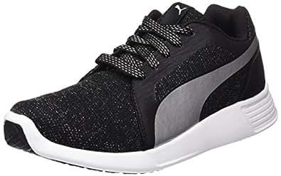 Puma Women's ST Trainer Evo Gleam Low-Top Sneakers Black Size: 3.5