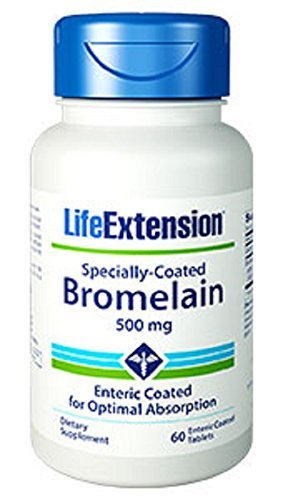 Life Extension Specially-Coated Bromelain 500 Mg, 60 tablets by Life Extension -