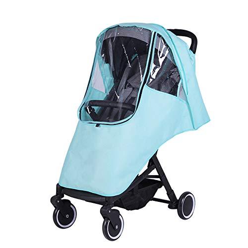 ZTXY Impermeabile per Passeggino Universale Custodia Antipioggia per Bambini Tenere Caldo Vento Pioggia Grigio Verde Rosa Porpora,Green