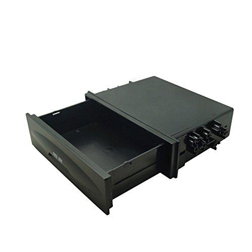 Radio Stereo Dash (Lukuki Car Stereo Radio Dash Trim Storage Box Universal Mounting 1DIN Pocket Drawer Kit)