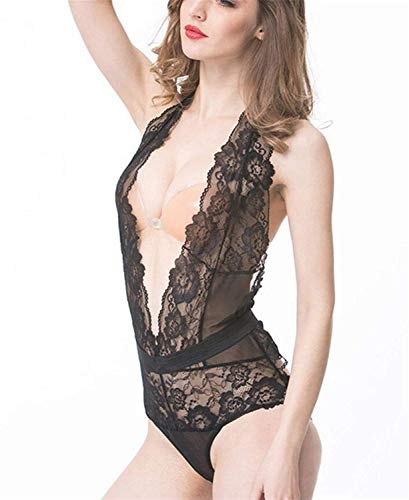 6a71f1ba0 Laisla fashion Biancheria Intima da Donna Lingerie Sheer Warm Deep Up  Classiche Halter V Ragazzi Neck