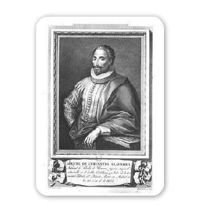 Portrait of Miguel de Cervantes Saavedra.. - Mousepad - Natürliche Gummimatten bester Qualität - Mouse Mat - 16th Century Portraits