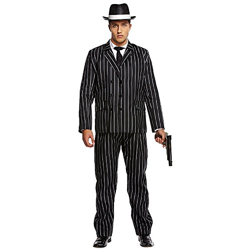 Gangsta Gangster-Kostüm Bugsy Malone Outfit STD & XL (STD) (Gangster-outfit)