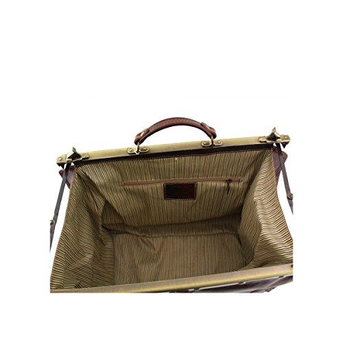 Tuscany Leather - Madrid - Sac de voyage en cuir - Grand modèle Miel - TL1022/3 Rouge