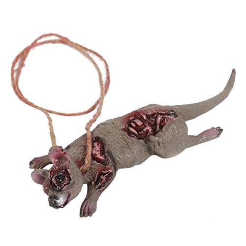 Amosfun Rattenspinne Gruselornament Halloween Horro hängende Dekoration Party Requisiten