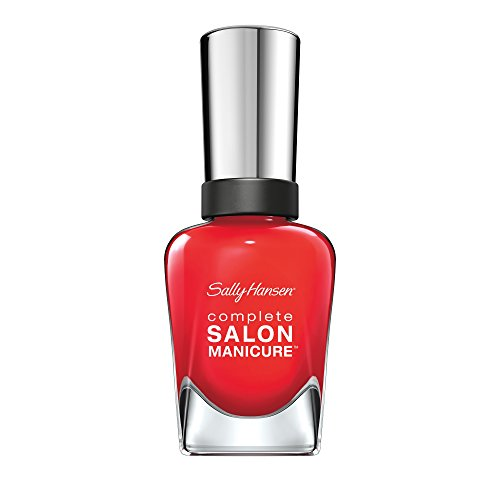 Sally Hansen Complete Salon Manicure Nagellack, Farbe 550, All Fired Up, rot, 1er Pack (1 x 15 ml) - Sally Hansen Unterlack