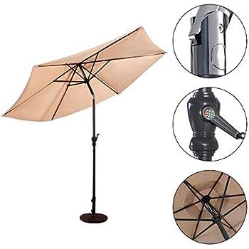 Beige vengaconmigo Parasol D/éport/é Parasol D/éport/é pour Balcon Jardin Terrasse LED 3 M en Polyester et en Fer Diff/érentes Couleurs de Choix Beige//Vin Rouge//Marron