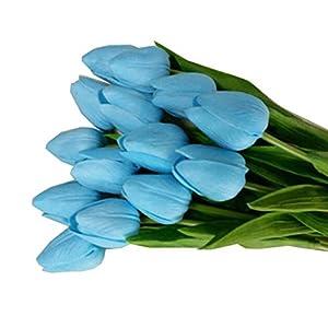 Flor Artificial para Decoracion,Tulipán Flor Artificial Decorativa Falsa,para la Decoración del Hogar Boda Cumpleaños…