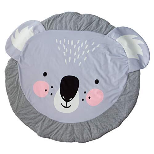 SZPDD Baby Teppiche Creeping Crawling Mat Cartoon Schlafteppiche, Kinder Anti-Rutsch-Spielmatte Baumwolle Boden Spielmatte Decke Umwelt Teppich,E,90x90cm -