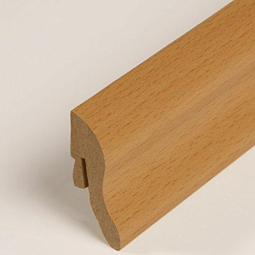Sockelleiste - Fußleiste 40 x 22 x 2.600mm Dekor Buche Gebeizt