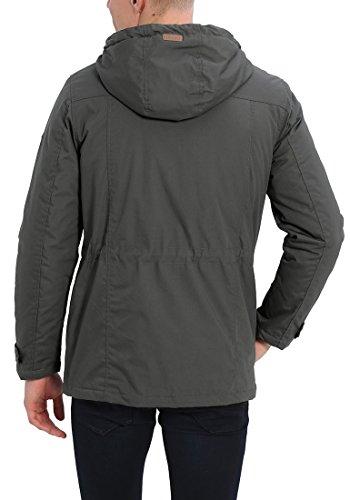 SOLID Tilas Herren Parka Übergangsjacke mit Kapuze aus hochwertiger Materialqualität Dark Grey (2890)