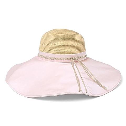 Mode grand chapeau de paille chapeau à larges bords du