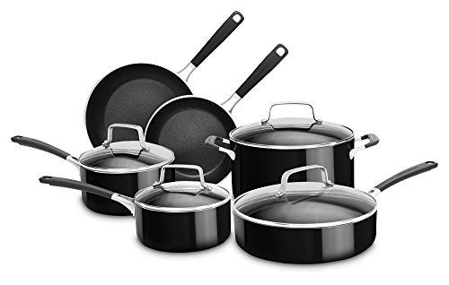 KitchenAid kc2as10ob 10Stück Aluminium Aluminiumguss Set, Onyx schwarz, groß