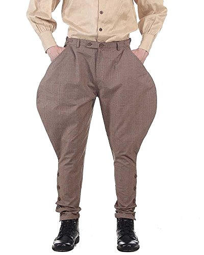 ThePirateDressing Steampunk Victorian Gothic Punk Vampire Royal Jodhpur Pants Costume C1326 [X-Large] steampunk buy now online