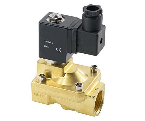 Magnetventil Stromlos geschlossen - Messing - für Druckluft, Wasser, neutrale Gase (230 V AC - G 3/4